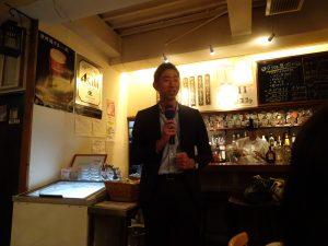 ibb顧問の㈱トライアンド前田さんによる乾杯のご発声